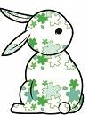 花ウサギ緑