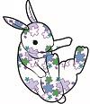 花ウサギ青